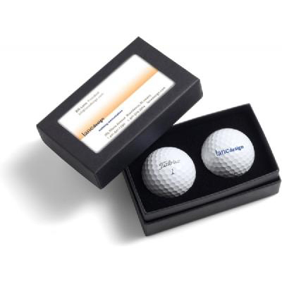 Titleist Business Card Box with Pro V1 Golf Balls